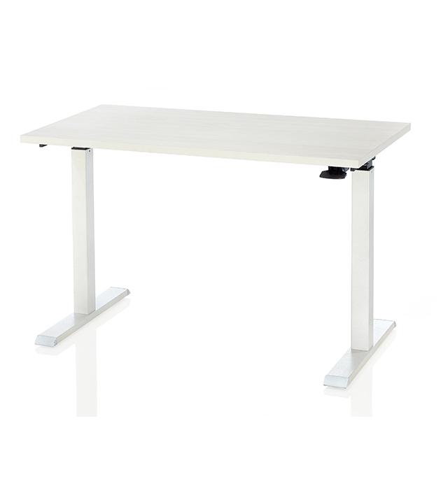 氣壓升降桌-水洗白柚木紋 2